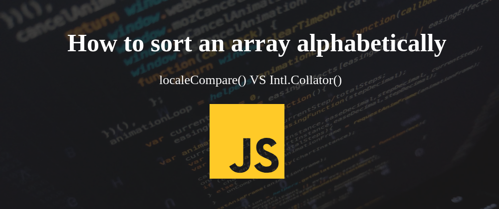 How to sort an array alphabetically